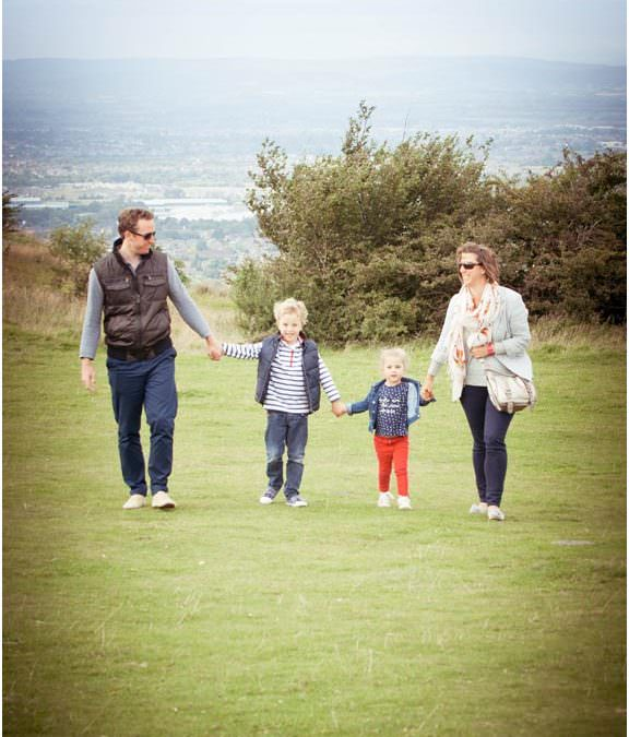 Charlotte, Mark, Grace & George – Family Photo Shoot Crickley Hill, Cheltenham