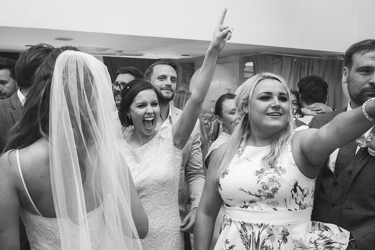 Girls dancing at a wedding